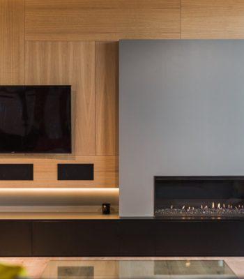 Meuble TV et Foyer sur Mesure