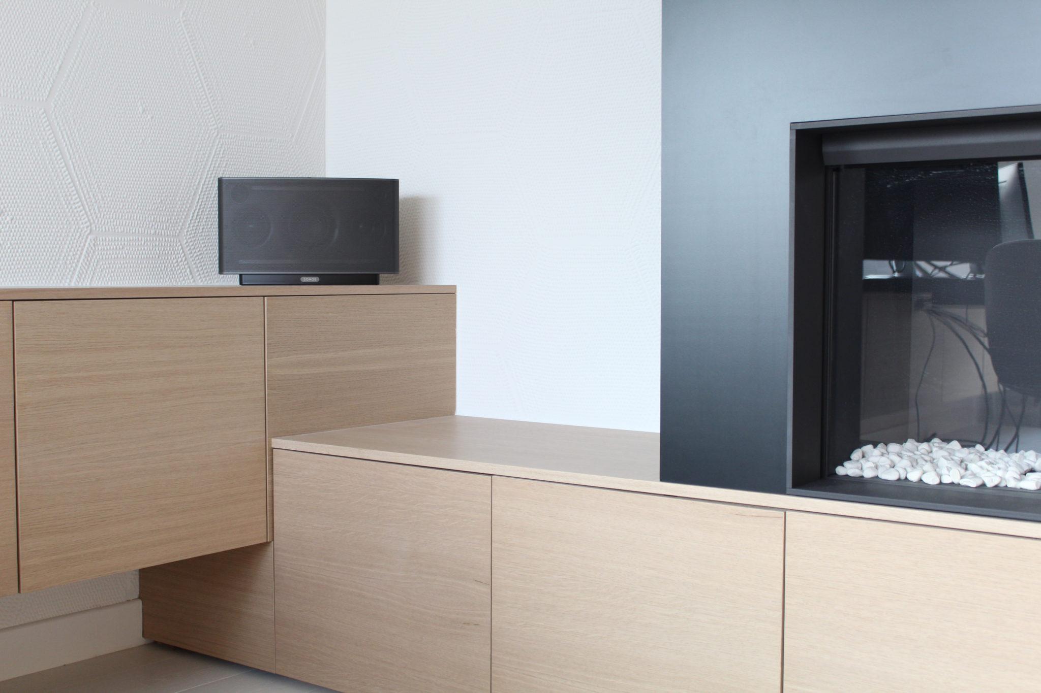 Réalisation de meubles foyer bureau menuiserie à namur